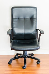 Black leather business office chair