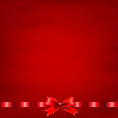 Red Background With Red Ribbon