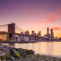 Poster Brooklyn Bridge Brooklyn Bridge at twilight