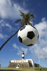 Soccer Brazil Salvador Lighthouse with Football