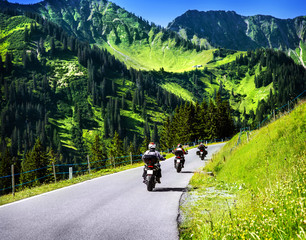 Wall Mural - Group of travelling bikers