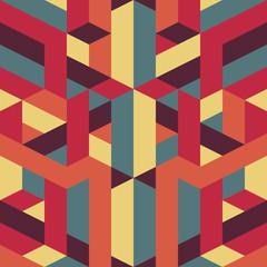 abstract retro geometric pattern