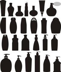 Obraz Bottles of cosmetic vector set - fototapety do salonu