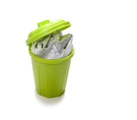 poubelle verte