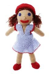 Obraz Handmade doll made with crochet-hook - fototapety do salonu