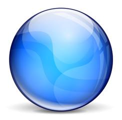 Dark blue bubble