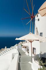 Windmill in Oia Santorini