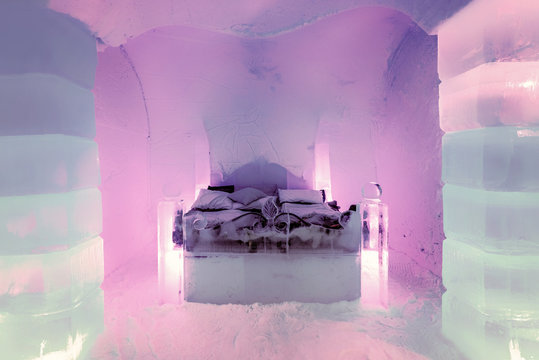 Honeymoon Suite in the Sorrisniva Ice Hotel, Norway