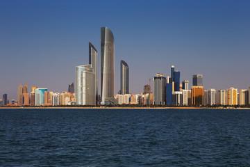 The Corniche Road West as seen from Marina Mall, Abu Dhabi, UAE