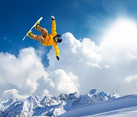 Fototapete - jump in the clouds