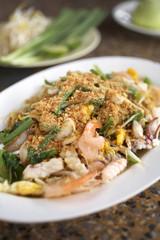 padthai in white dish