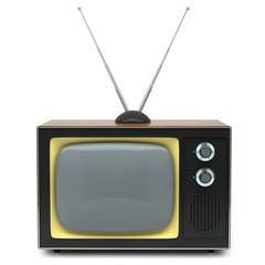 Retro TV isolated on white background