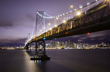 Foto op Plexiglas Panoramafoto s Bay Bridge in San Francisco
