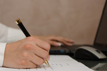 Signing a documents