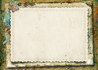 Vintage gorgeous background with card
