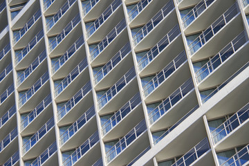 Pattern of balconies in modern building