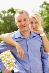 Portrait aged couple