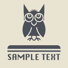 Owl icon or sign, vector illustration