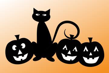 Halloween Cat Pumpkins