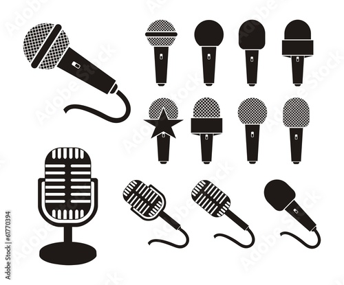 """""""microphone silhouette"""" Stock image and royalty-free ..."""