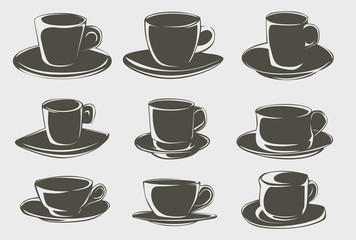 Coffee cup shapes