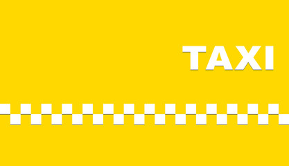 yellow business card with taxi