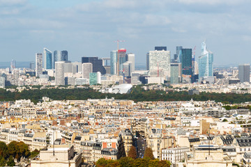 View of La Defense from the Eiffel Tower in Paris
