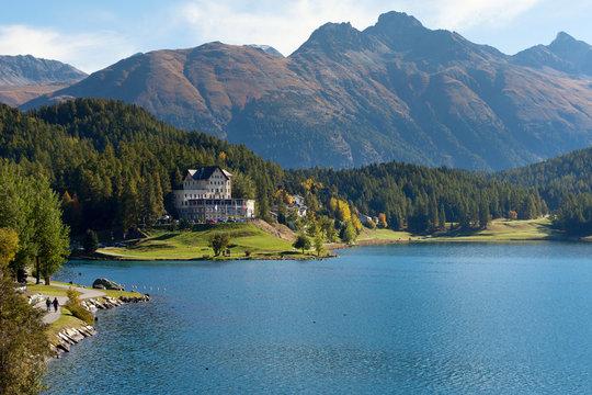 Alpine landscape, St. Moritz, Switzerland.