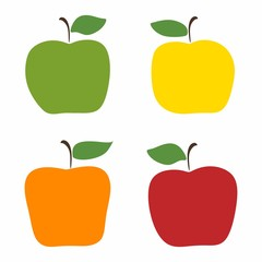 simple set of colorful apples