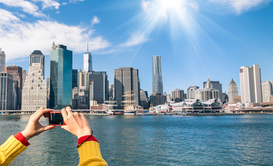 Picture of New York Skyline from river Hudson - Digital pocket C