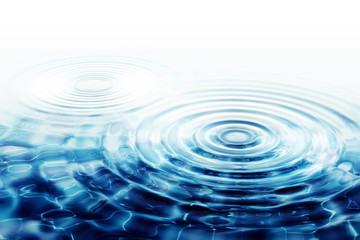 crystal clear water ripples  - two perfect concentric circles