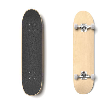 Skateboard deck isolated