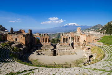 Fototapete - Greek theater of Taormina
