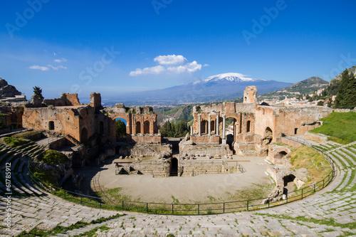 Aufkleber Greek theater of Taormina