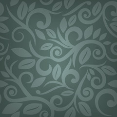 teal or blue seamless floral background