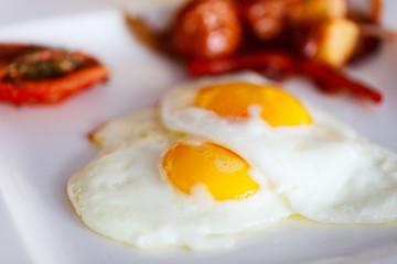 Fried eggs breakfast