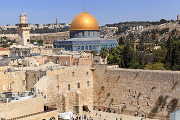 Jerusalem, Dome of the Rock and Western Wall, October 2011
