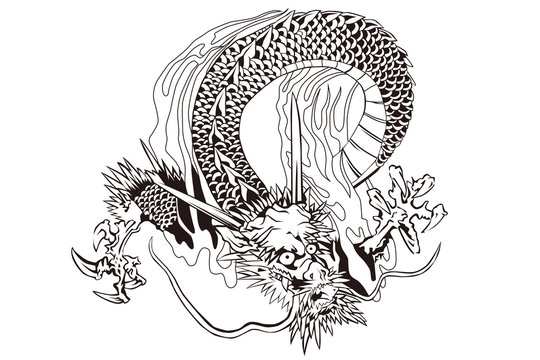 天龍寺 雲龍図のイメージイラスト