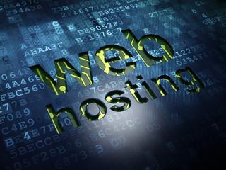 Web design concept: Web Hosting on digital screen background