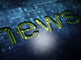 News concept: News on digital screen background