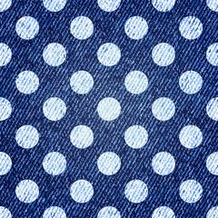 Jeans retro seamless polka-dot background. Vector