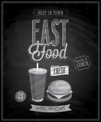 Wall Mural - Vintage Fast Food Poster