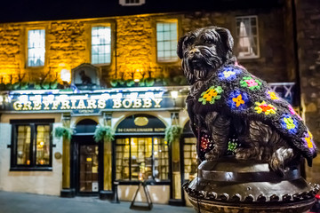 Greyfriars Bobby statue and pub