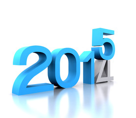 Here comes the new year ... 2015 - 3D