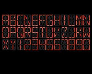 Digital Alphabet Red