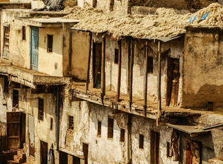 Fez, Morocco. The tannery souk of weavers is the most visited pa