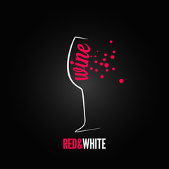wine glass bubbles splash menu background