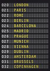 airport flight information, travel europe concept