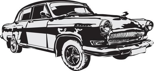 Russian of a retro car