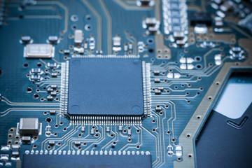 Computer Circuit Board Close Up